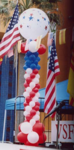 {USA column balloons represent the America flag}