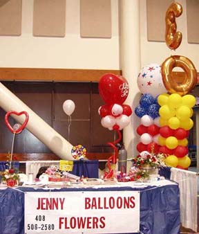 {My two columns of balloons for the stage}
