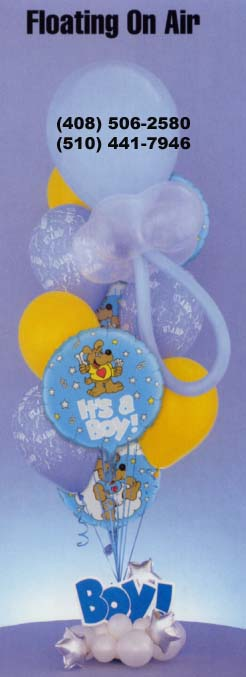 {Pacifier Balloons Bouquet for 1 month and the halloween bouquet for baby boy}