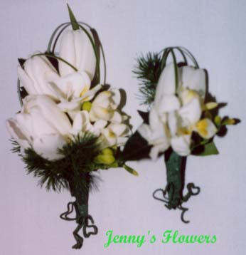 {Beautiful corsage and boutineer for Country Club}