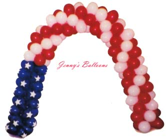 {Balloon arch for July 4th}