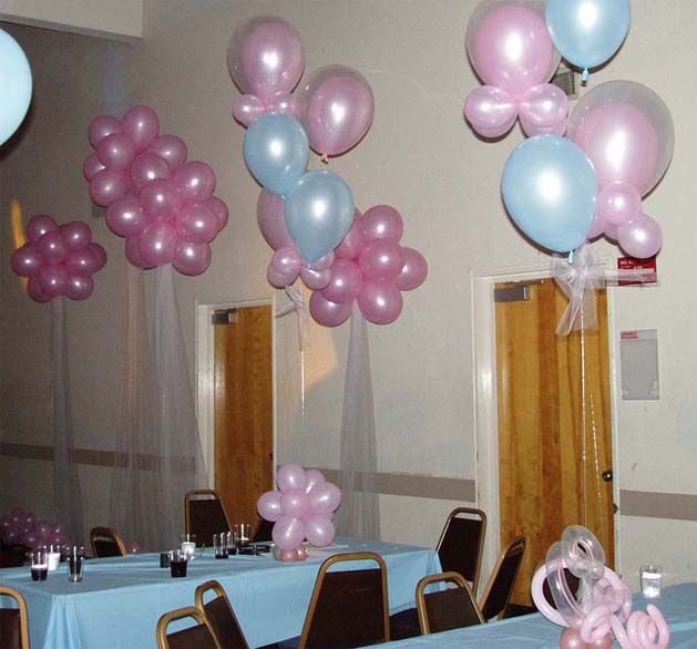 {Pink and Blue theme for the party at Palo Alto Hall}