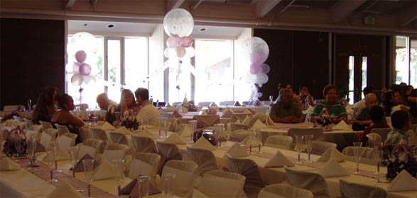 {Theme of the party is pearl white and lavender with touch of silver glitter}
