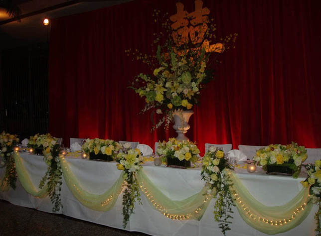 {Beautiful reception Headtable}