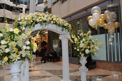 {Beautiful reception entrance}