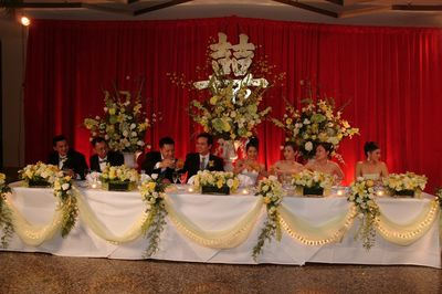 {THe Headtable for Bride and Groom}