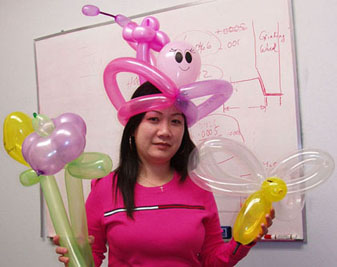 {Balloon twist for Trisha's daughter birthday}