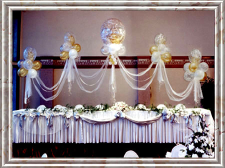 {Head Table for Bride and Groom}